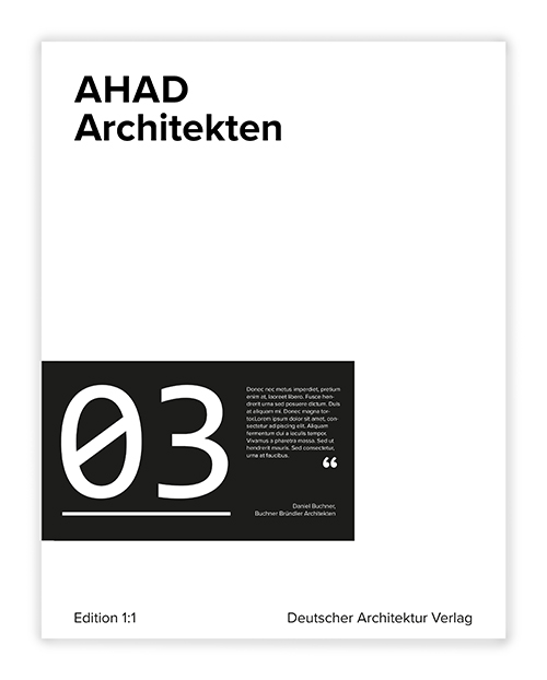 Cover AHAD Architekten Edition 1:1