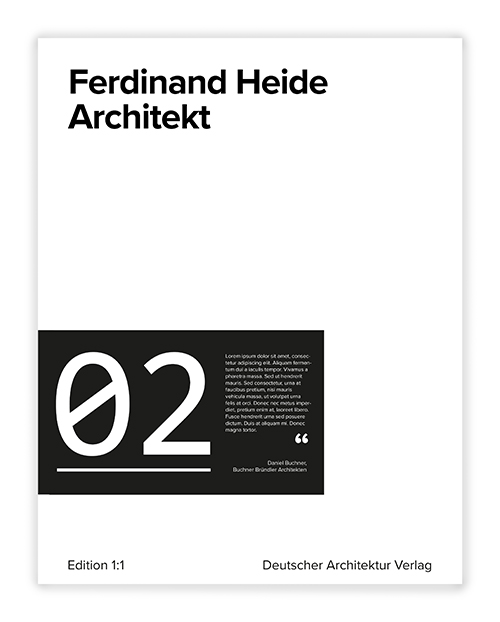 Cover Ferdinand Heide Architekt Edition 1:1